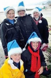 Janet Evans, Diane Materi, Marni Wildman, Gloria Atkinson and Karen Grannary Photograph by: North Shore News Paul McGrath, North Shore News